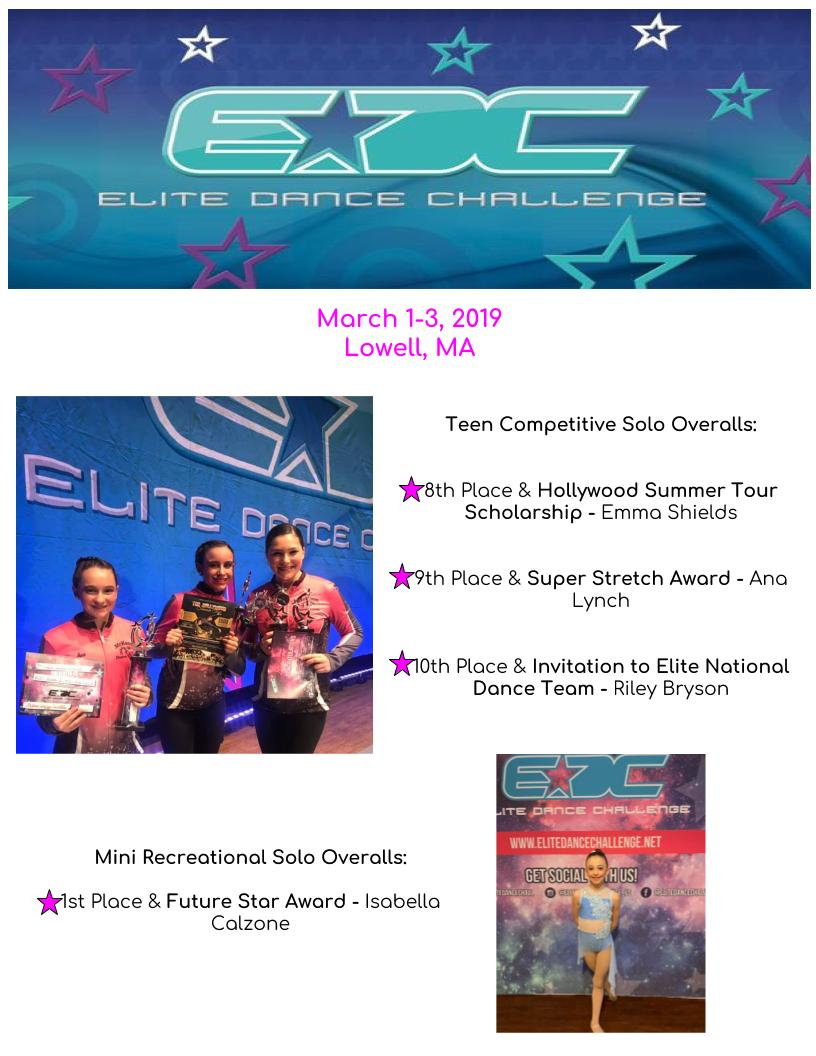 Competitive Dance Results | McKeon Dance and Gymnastics